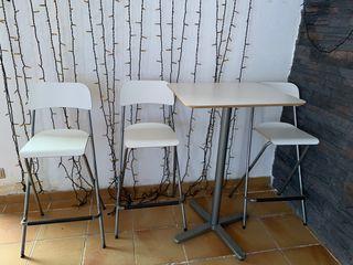 Mesa alta y taburestes mesa de aperitivo