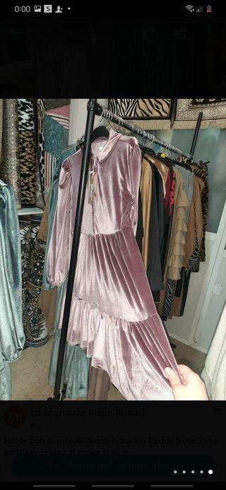 elegante vestido italiano talla única