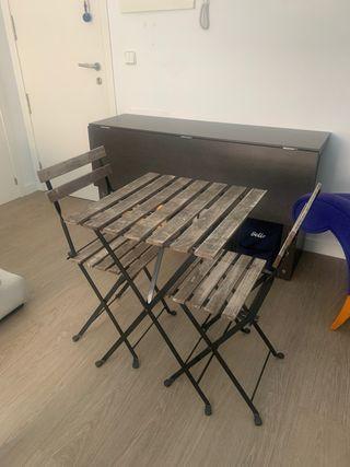 Conjunto mesa y sillas terraza Ikea modelo Tarno