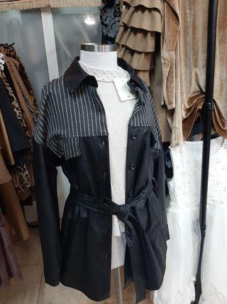elegante chaqueta italiana polipiel tallas únicas