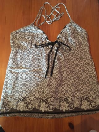 Blusa top Zara estampada