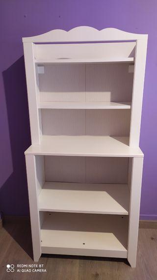 mueble estantería infantil blanco