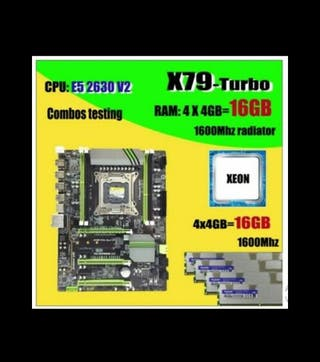 Placa base X79 LGA2011 + CPU E5 2630 V2 + 16GB RAM