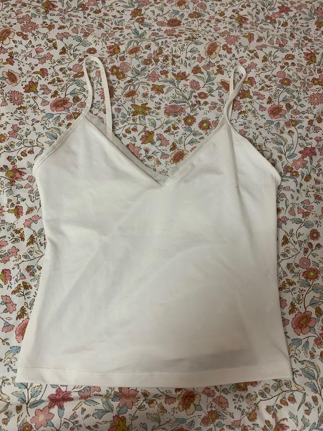 Top blanco lencero talla S