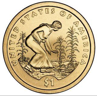 Moneda dólar 2009 Sacagawea ceca P, SC.
