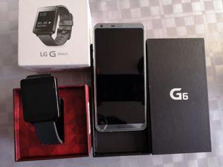 Lg G6 +Lg G watch prácticamente a estrenar
