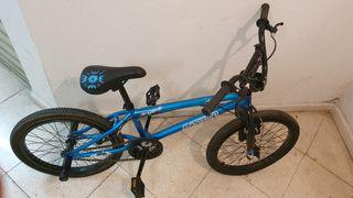 Bicleta BMX Btwin 18 pulgadas azul