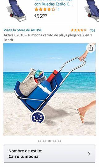 Tumbona carrito de playa Aktive