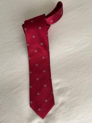 Corbata italiana 100%seda, en rojo