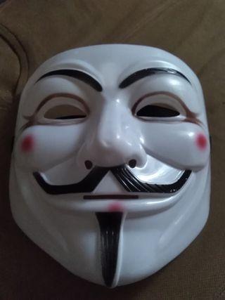 Máscara anonymous. V de Vendetta.