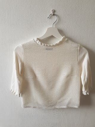 top blanco de Zara