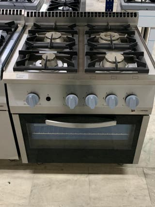cocina a gas con horno serie europea