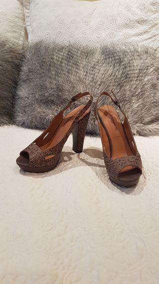 Zapatos tacón Adolfo Domínguez plataforma