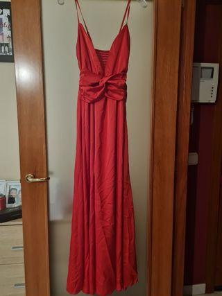 Vestido largo rojo brillante GLOWRIAS