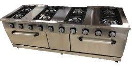 cocina a gas con horno 10 quemadores