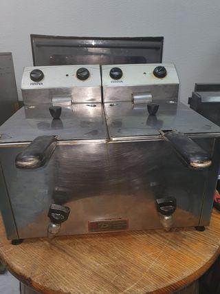 freidora 8+8 litros