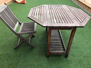 Mesa y silla de jardín plegables de IKEA