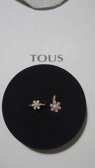 anillo y colgante flor Tous real mix