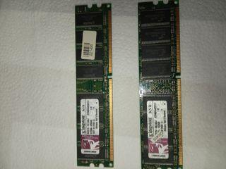 Memorias ram DDR 512Mb 2 unidades