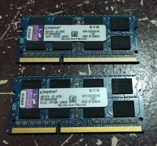 Ram portatil DDR3 SODIMM 8 Gb (2 x 4 Gb) Kingston