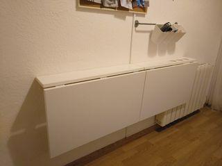 Mesa plegable blanca 74 cm x 60 cm