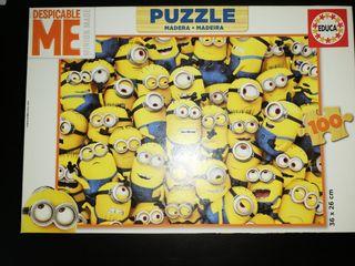 Minions puzzle madera