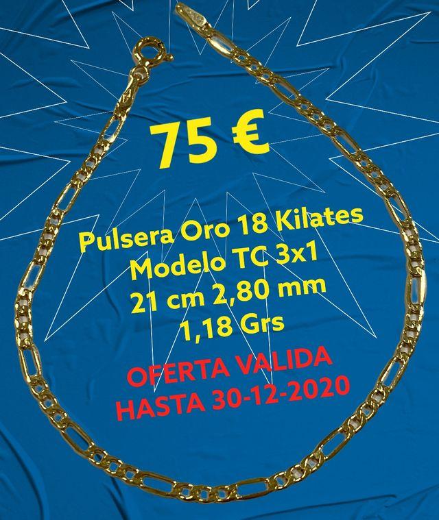 18K Pulsera Oferta Oro 18 kilates TC 3x1