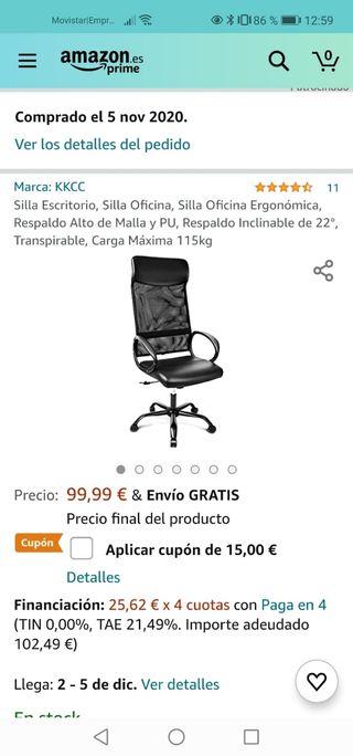 Silla escritorio / oficina ergonómica
