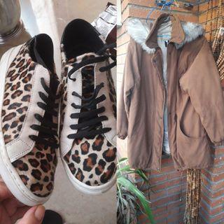 zapatillas y abrigo