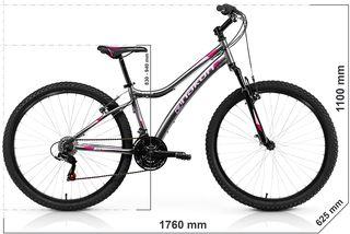 Bicicleta de montaña, Mujer, Gris, ENVIO GRATIS