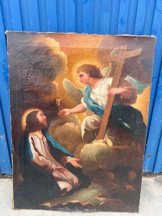 Cuadro de lienzo religioso