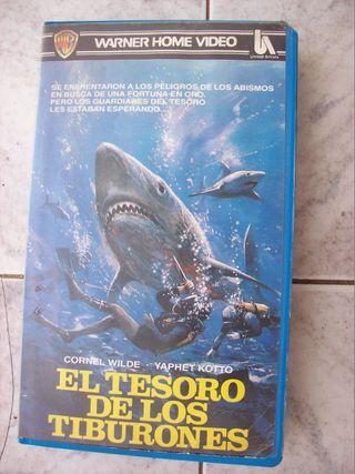 EL TESORO DE LOS TIBURONES VHS