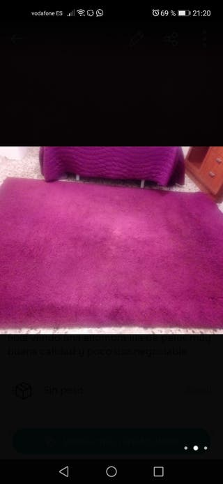 alfombra de calidad lila