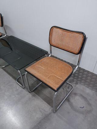 Pareja sillas CESCA Marcel Breuer + Mesa