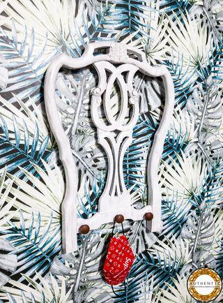 Perchero Silla Shabbychic 64cm Alto Blanco Decapé