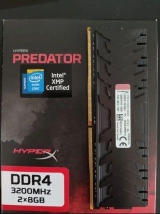Memoria RAM HyperX Predator DDR4 3200MHz 16GB