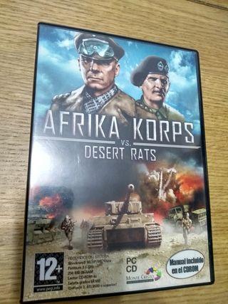 Juego PC AFRIKA KORPS v.s DESERT RATS
