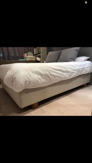 Somier tapizado IKEA evenskjer 160x200
