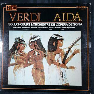 Disco Album Opera Aida de Verdi