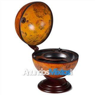Mueble bar bola del mundo madera
