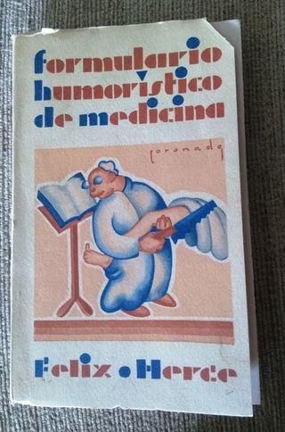 FORMULARIO HUMORÍSTICO DE MEDICINA, 1929