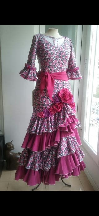 vestido de flamenca, talla 36-38