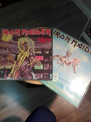 Iron Maiden LP Killers y Seventh son.