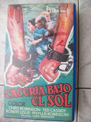 CACERIA BAJO EL SOL VHS
