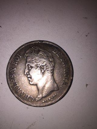 Moneda francesa 1828 Charles X