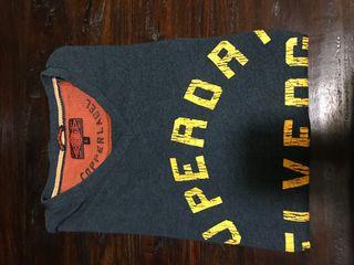 Camiseta SuperDry gris azulado