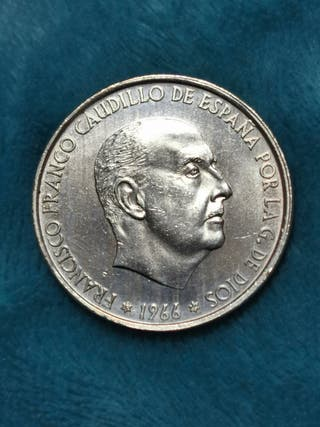 100 pts de plata 1966*66 España