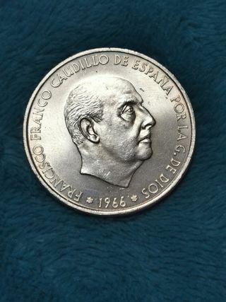 100 pts de plata 1966 *69 p. curvo error