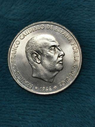100 pts plata 1966*69 P.recto España 1966