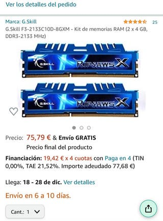 Placa asus + procesador i5 + Memoria Ram 16gb